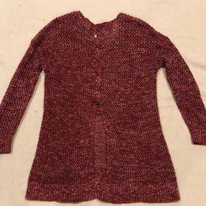 Open back open stitch sweater